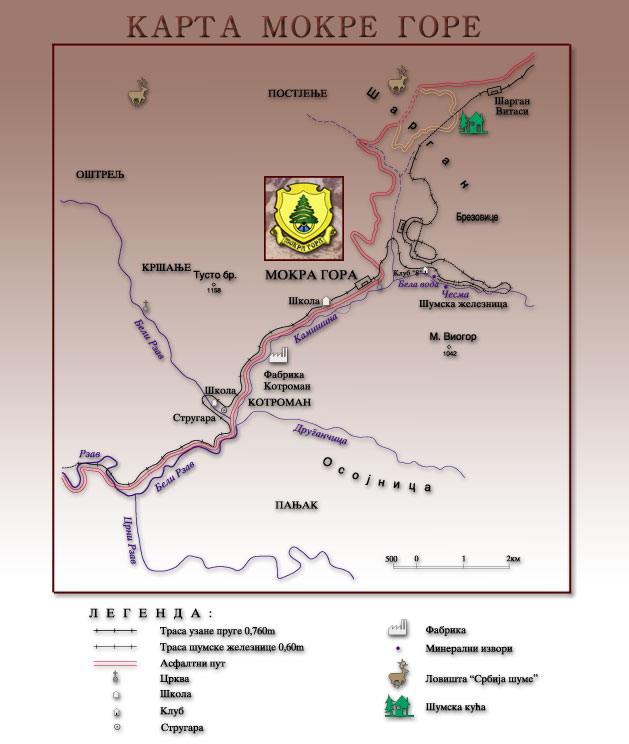окрестности Мокра Гора, схема